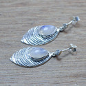 925 STERLING SILVER JEWELRY RAINBOW MOONSTONE WHOLESALE EARRING WE-5524