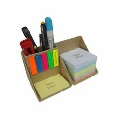 Wooden Brown Stationery Holder, Packaging Type: Box