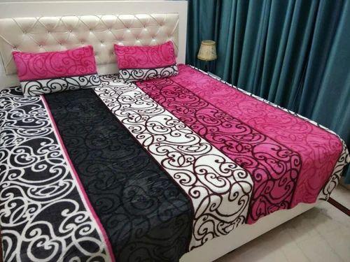 Multicolor Super Soft Velvet Touch Ac Blanket Cum Double Bed Sheet