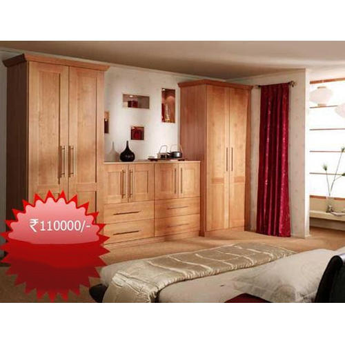 Brown Wooden Bedroom Almirah Set, For Home, Rs 110000 /set ...