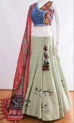 Dusty Beige Navratri Special Chaniya Choli