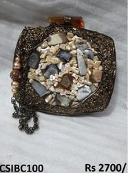 Stone Work Designer Clutch