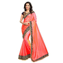 Metallic Orange Ladies Saree