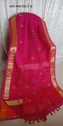 Embroidered Linen Sarees