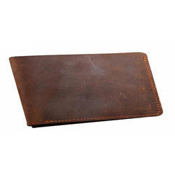 Brown Leather Wallets, Packaging Type: Box