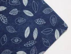 Indigo Dabu Floral Block Print Fabric