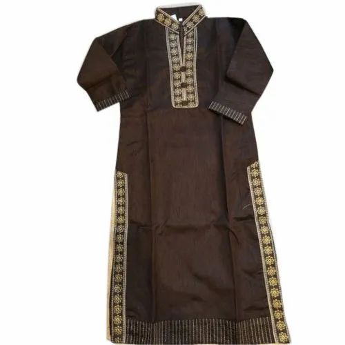 Stand Collar Designs For Kurti : Semi stitched casual wear ladies designer stand collar kurti