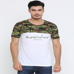Male Cotton Chest Camouflage T-Shirt