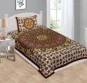 Jaipuri Traditional Cotton Single Bedsheet