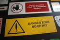 WARNING SIGNS IN ALUMINIUM