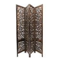 Hand Carved 3 Panel Wooden Screen