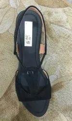 Sweat Leather Heel Sandals