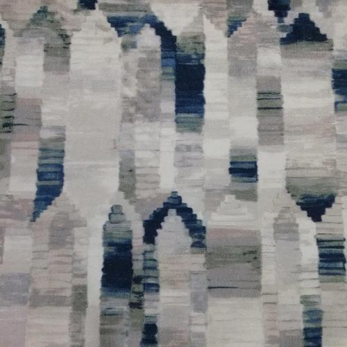 Beautiful Grey Blue And White Abstract Pattern Curtain Fabric