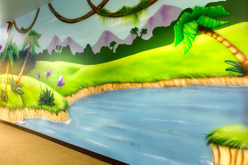 Kids Classroom Cartoon Wall Painting