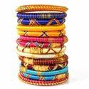 Indian Handcraft Fashion Design Silk Thread Bangles Set