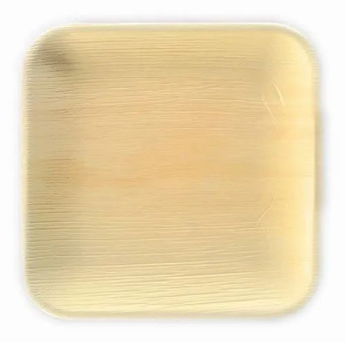 Eco Palm Leaf Square Plate 25cm Pack Of 25 One Size