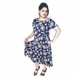 Western Meerap Women Fashionable Rayon Gown, Size: Xxl