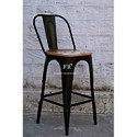 Black Iron Frame Bar Chair