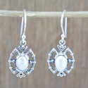 925 Sterling Silver Jewelry Beautiful Pearl Gemstone Earring