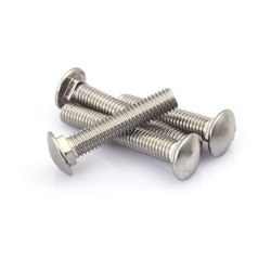 Round Stainless Steel Carriage Bolt, Material Grade: SS316, Size: M14
