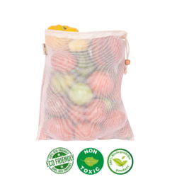 Eco Friendly Multipurpose, Cotton Net Storage Bag For Household Essentials / Vegetable
