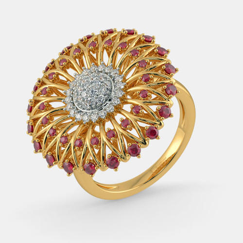 Ruby Gold Ring at Rs piece