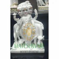 Handcrafted Dattatreya Marble Statue
