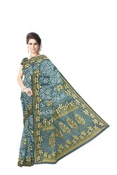 All Over Green Boota Design  Banarasi Georgette Saree