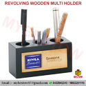 3 Slot Wooden Pen Holder
