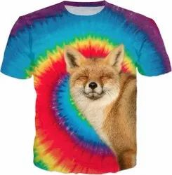Polyester Printed 3D Sublimation Printing Custom Made T Shirt, Designing
