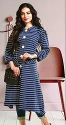 Ladies Designer 3/4th Sleeve Kurtis