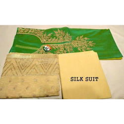 Silk Unstitched Ladies Fancy Suits, Packaging: Packet