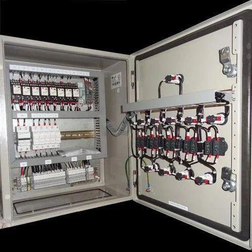 sheet metal 230 v ac ahu starter control panel, ip rating: ip33, for