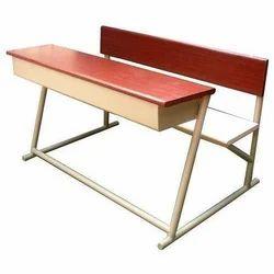 Wooden Dual Desk Bench