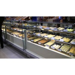 Stainless Steel And Glass Sweet Display Counter