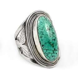 Lovely 925 Sterling Silver Turquoise Ring