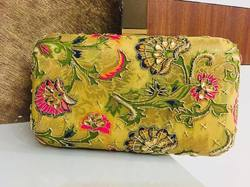 Evening Embroidered Box Clutch