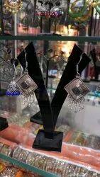 Silver Coat Earrings