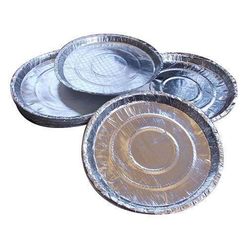 Disposable Round Silver Paper Plate Kagaz Ki Plate क गज क