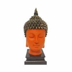 Orange Gautam Buddha Face Statue