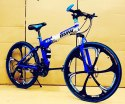Carbon Steel Blue Black Bmw Foldable Cycle (6 Spokes)
