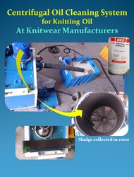 Centrifugal Cleaning Knitting Oil System