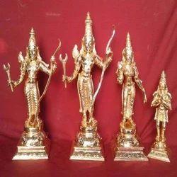 Sri Ram Parivar Panchaloha Statue 2 Feet
