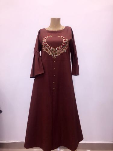 Casual Wear And Wedding Wear Medium And Large Ladies Kurti Pure Cotton