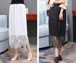 Womens Lace Long Skirt