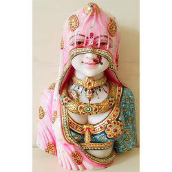 Multi Color Marble Bani Thani Handicraft Goddess, For Interior Decor