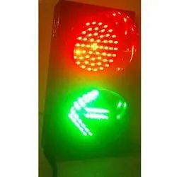 Red Signal And Green Arrow Traffic Signal Light