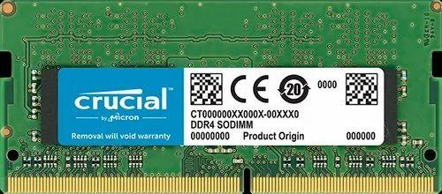 Crucial 4 GB CT4G4SFS624A LAPTOP DDR4, Sodimm, Voltage: 1.2v