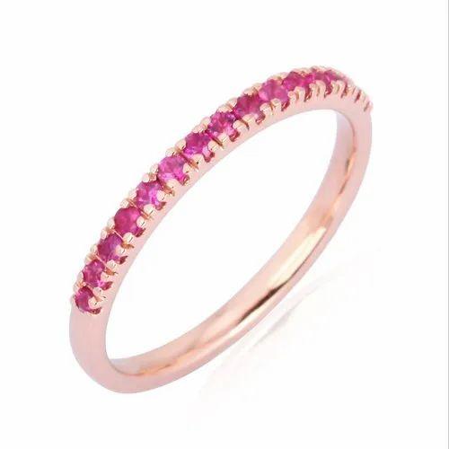 Pave Gemstone Band Ring