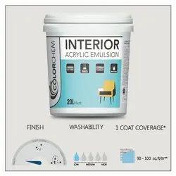 Matt Finish Interior Acrylic Emulsion Paint, Packaging Size: 20 Ltr